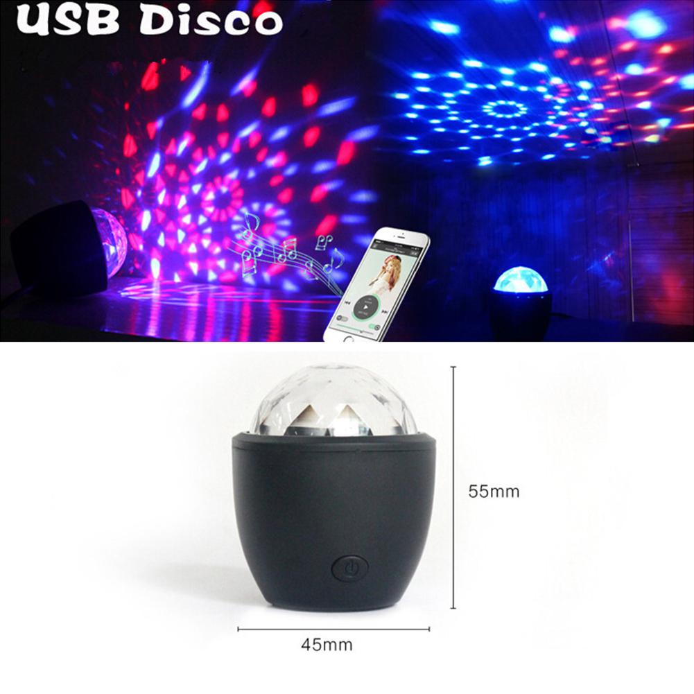 Voice Activated Crystal Magic Ball, Led Stage Disco Projector Party Lights