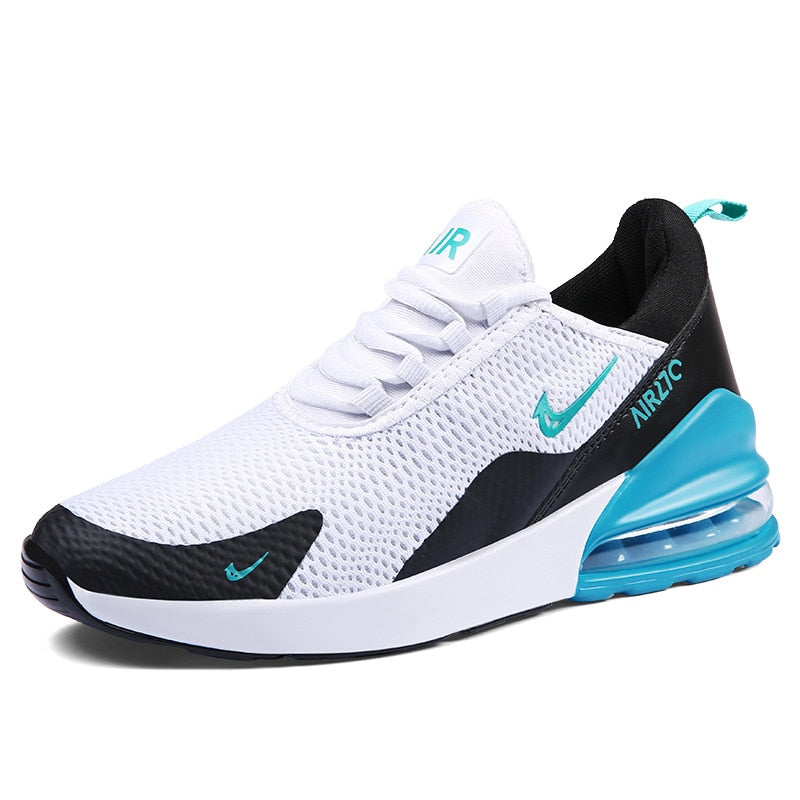 Men Sneakers 2019 Fashion Air Cushion Mesh Shoes Breathable Running Shoes Men's Lace-up Jogging Shoes Plus Size