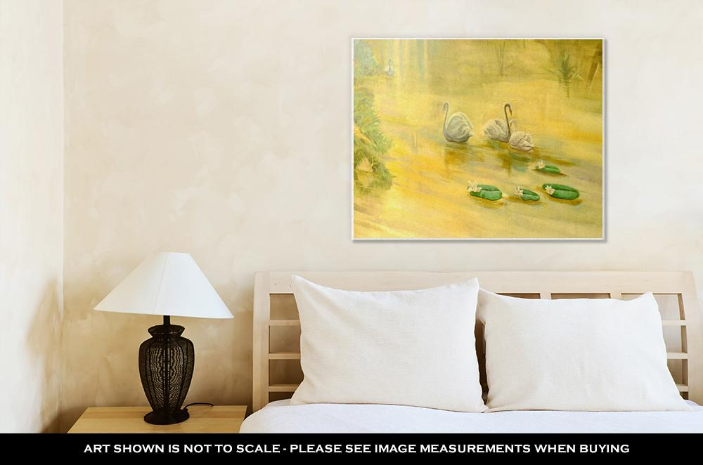 A Family of Swans - Canvas Wall Art