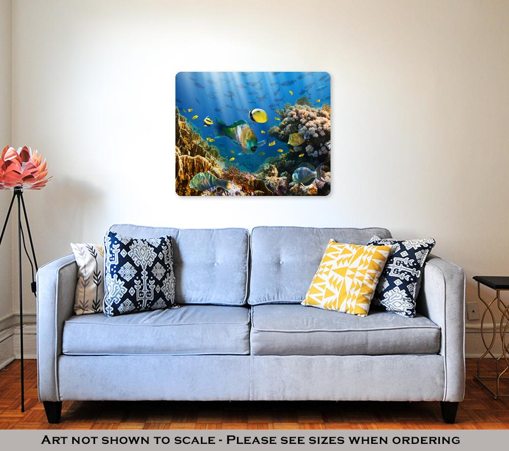 In the Red Sea - Metal Panel Wall Art