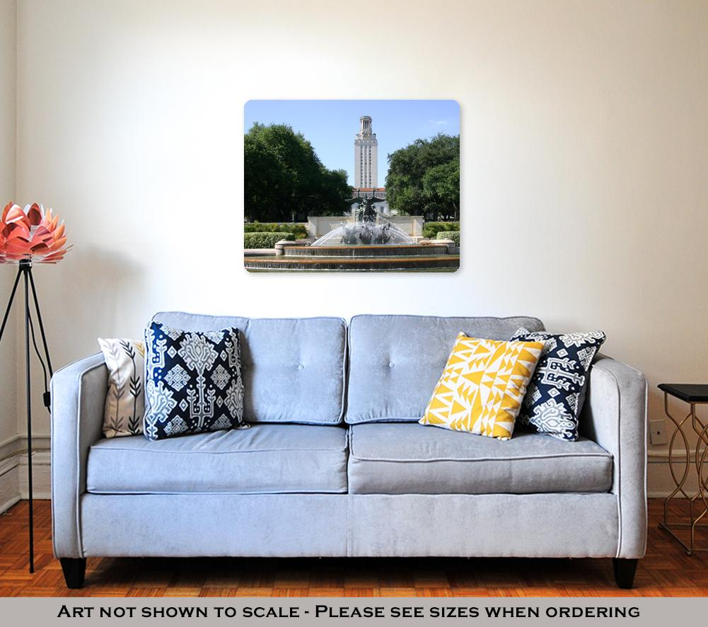 The UT Tower - Metal Panel Wall Art