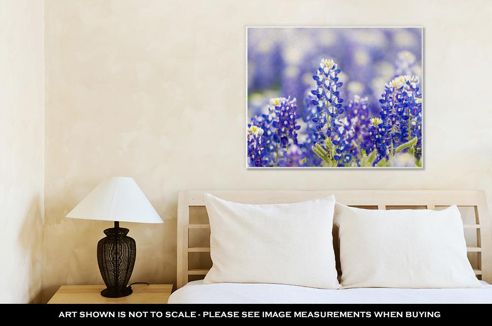 Blue Bonnet Field - Canvas Wall Art