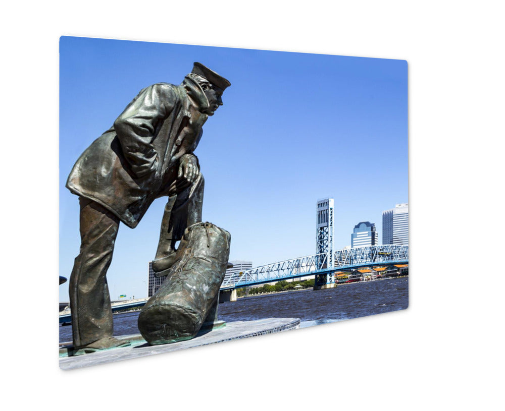 Sailor On The ST. Johns River - Metal Panel Wall Art