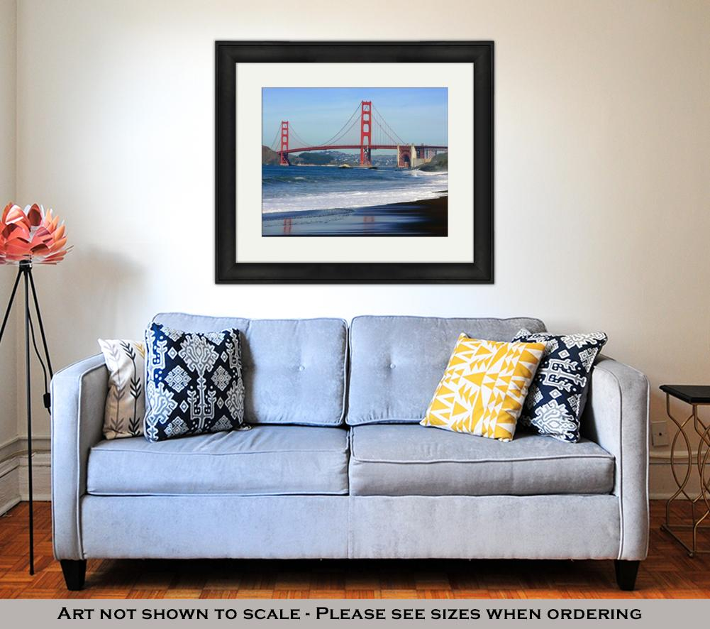 San Francisco Golden Gate Bridge - Framed Wall Art