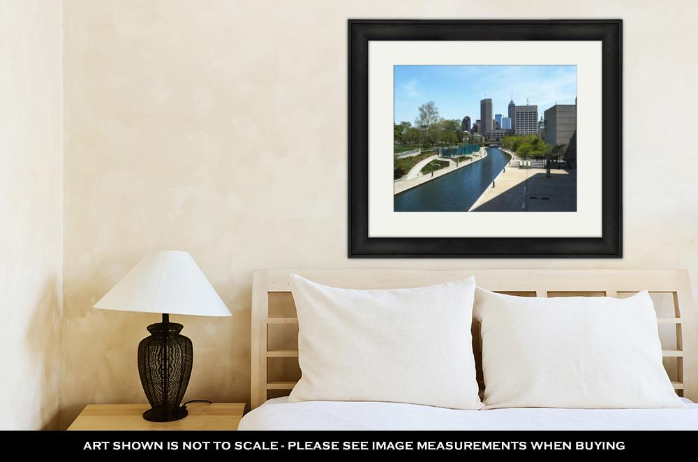 Water Canal In Downtown Indianapolis - Framed Wall Art