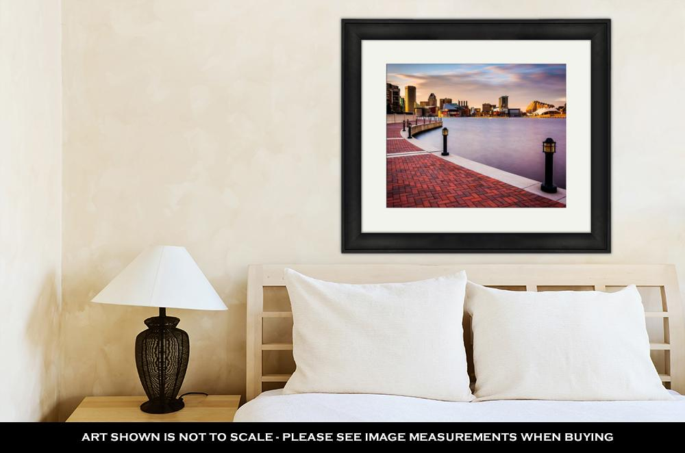 Baltimore Skyline - Framed Wall Art
