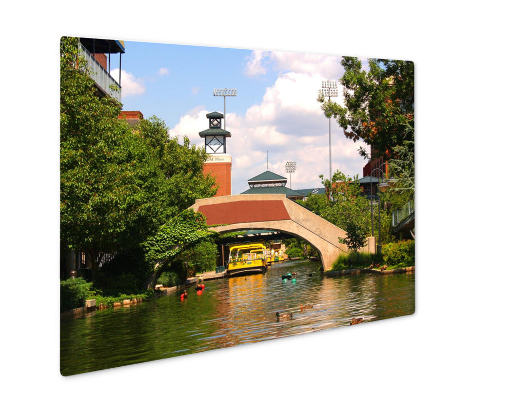 Bricktown Canal - Metal Panel Wall Art