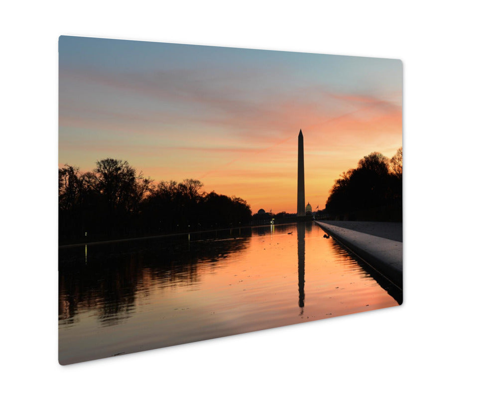 Sunrise on The Washington Monument - Metal Panel Wall Art
