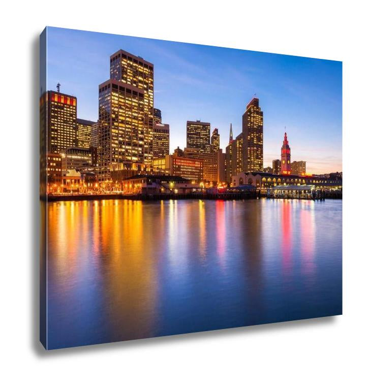 San Francisco in Red and Gold - Canvas Wall Art