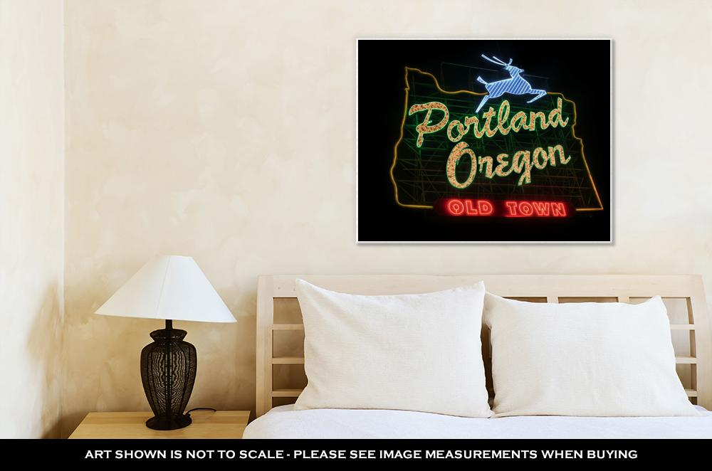 Old Town Sign, Portland - Canvas Wall Art