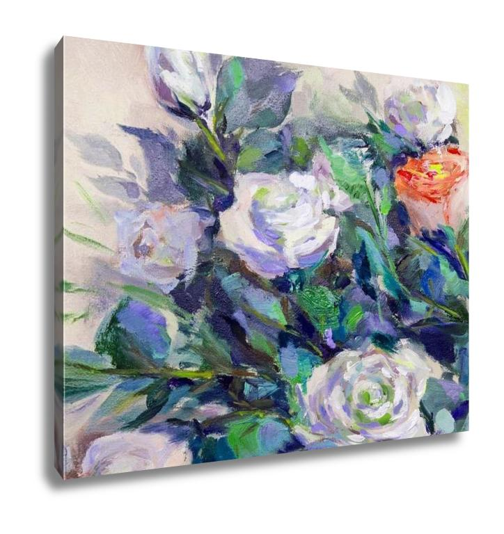 Still White Roses - Canvas Wall Art