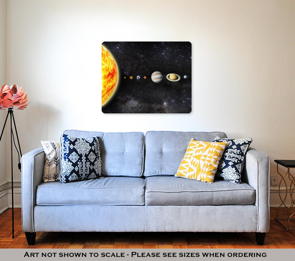The Solar System - Metal Panel Wall Art