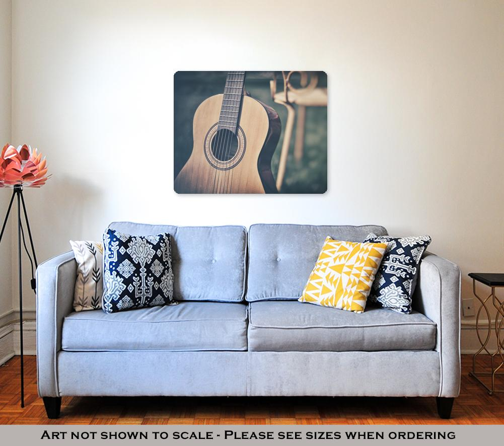 Acoustic Guitar - Metal Panel Wall Art