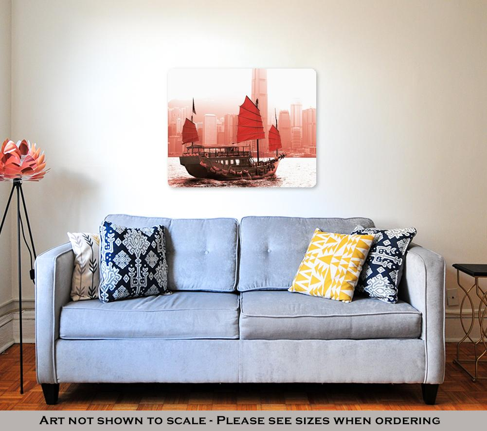 Sailing in Victoria Harbor  - Metal Panel Wall Art