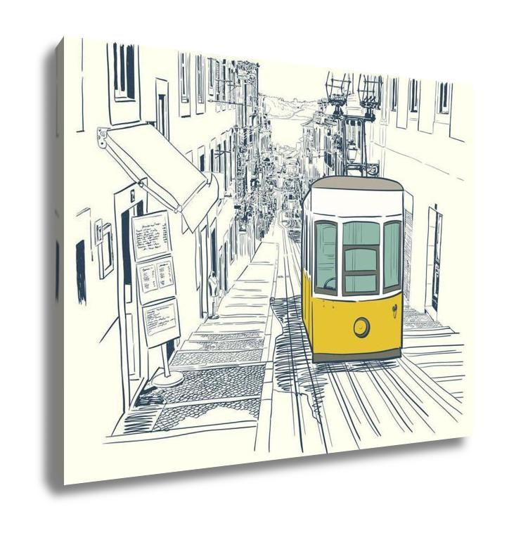 Lisbon Street - Canvas Wall Art