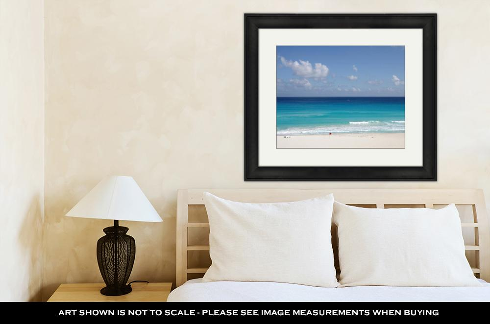 The Turquoise Water of The Caribbean Sea - Framed Wall Art