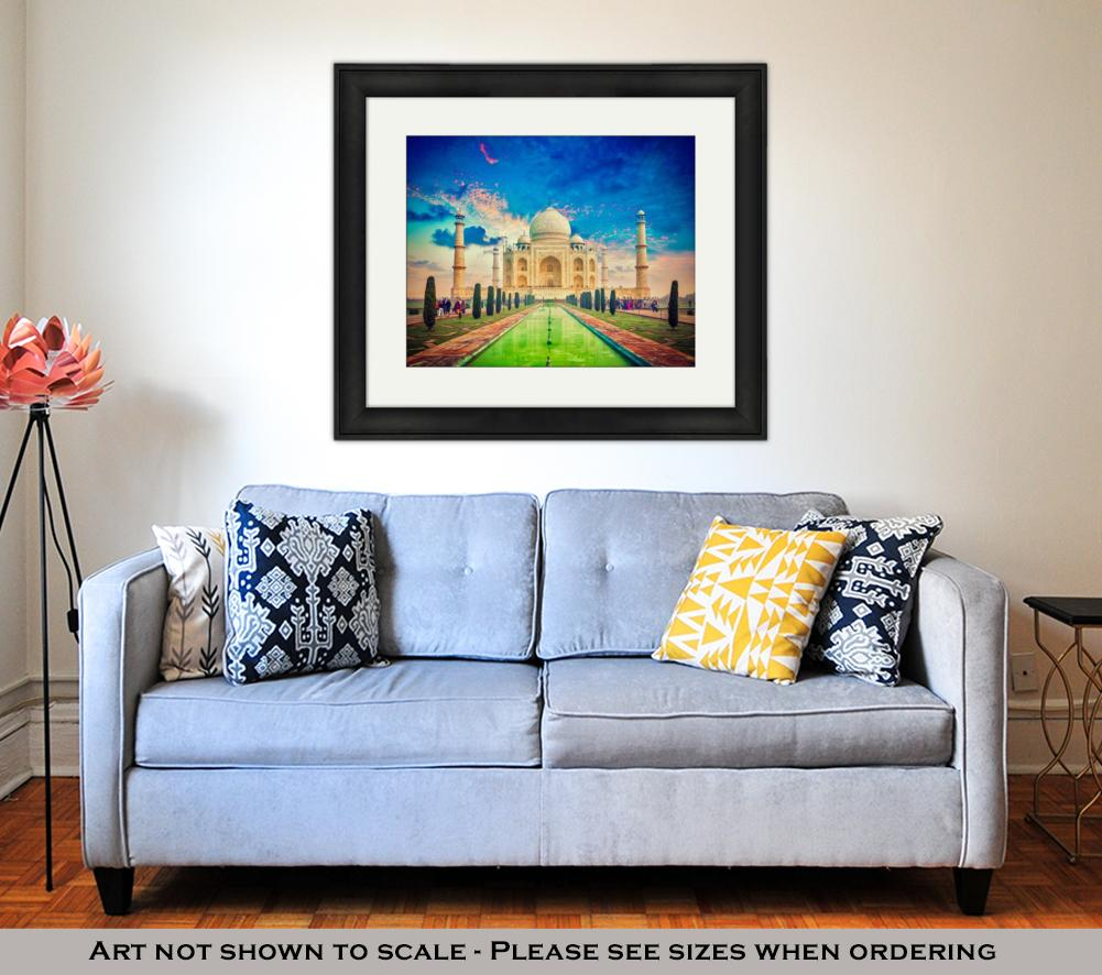 Sunset upon Taj Mahal - Framed Wall Art