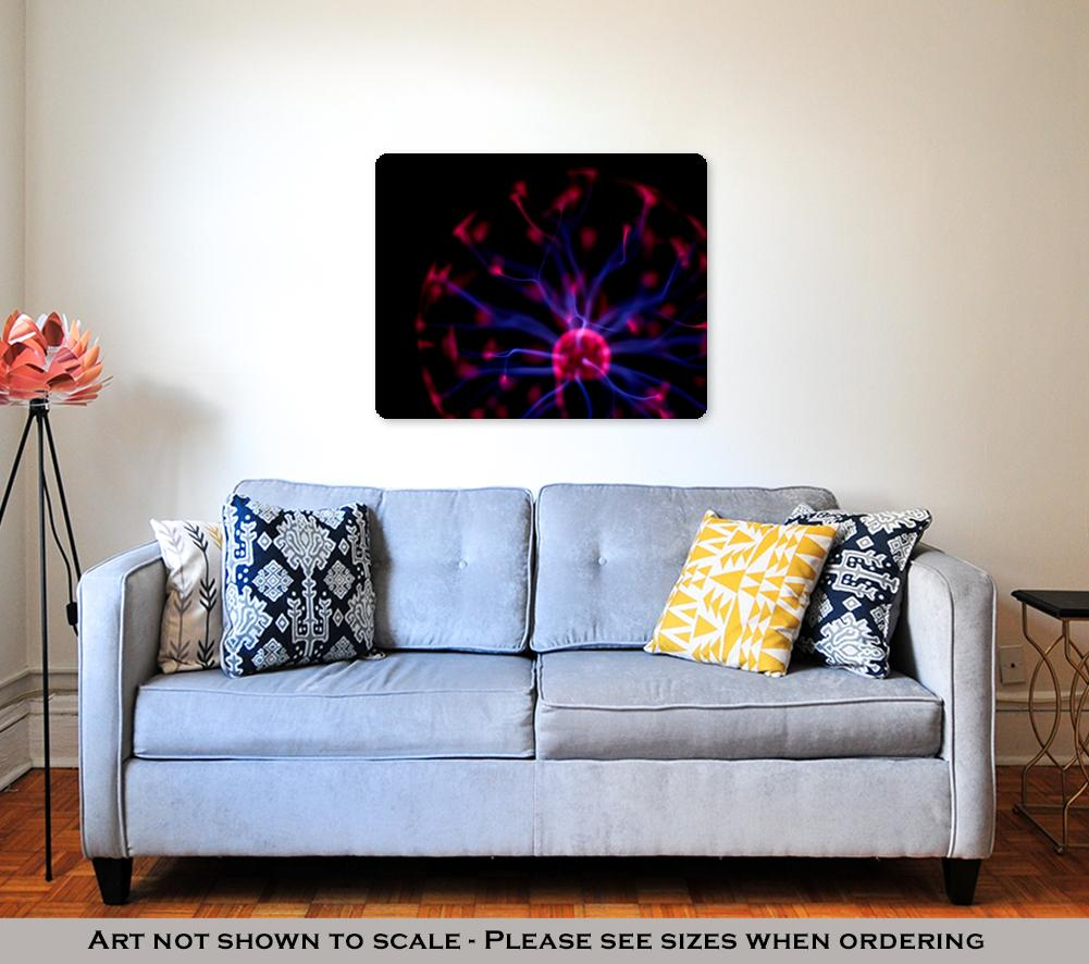 Plasma Globe - Metal Panel Wall Art