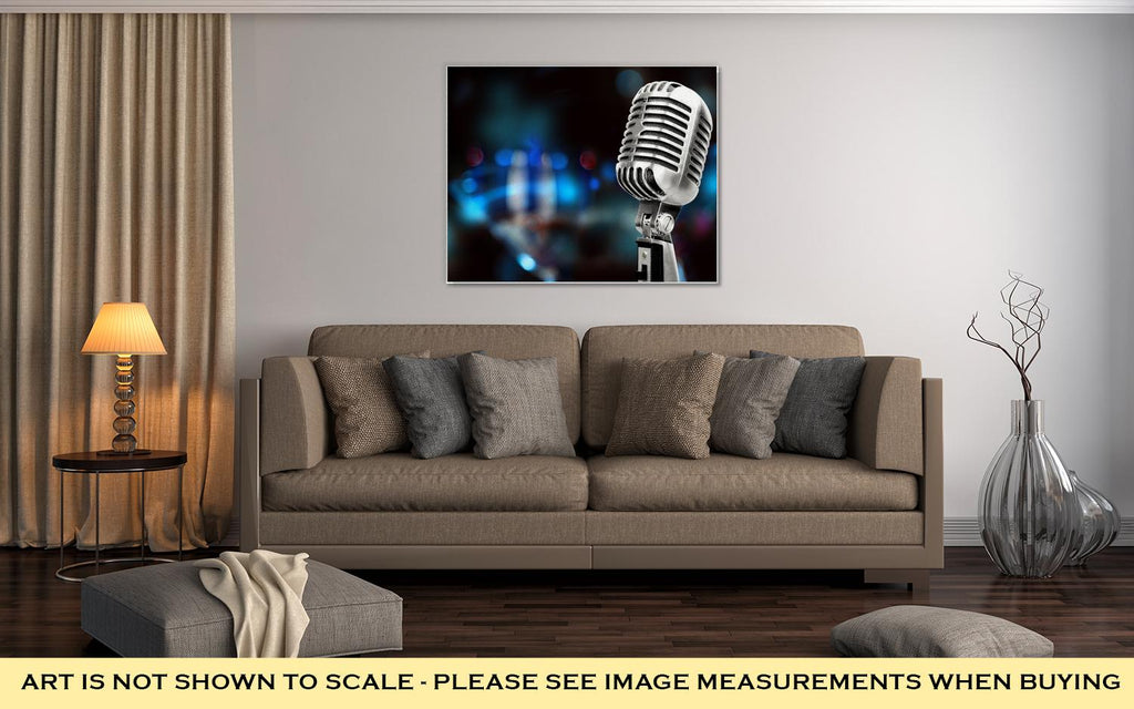Silver Microphone - Canvas Wall Art