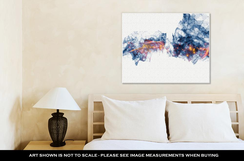 Network Wave - Canvas Wall Art
