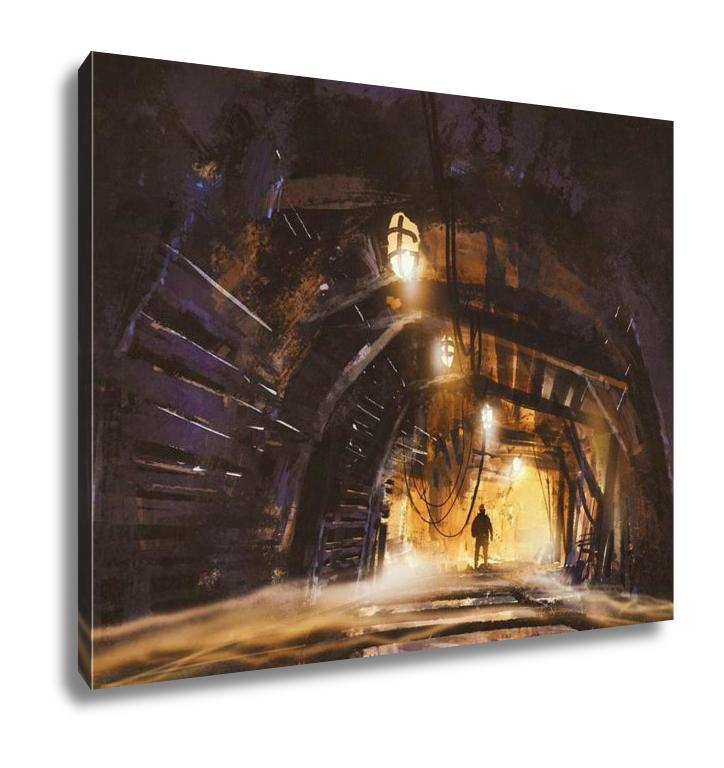Trek Through The Mines - Canvas Wall Art