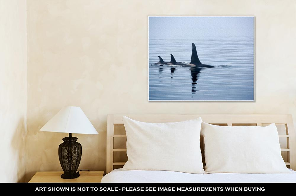 Pod of Orca Whales - Canvas Wall Art