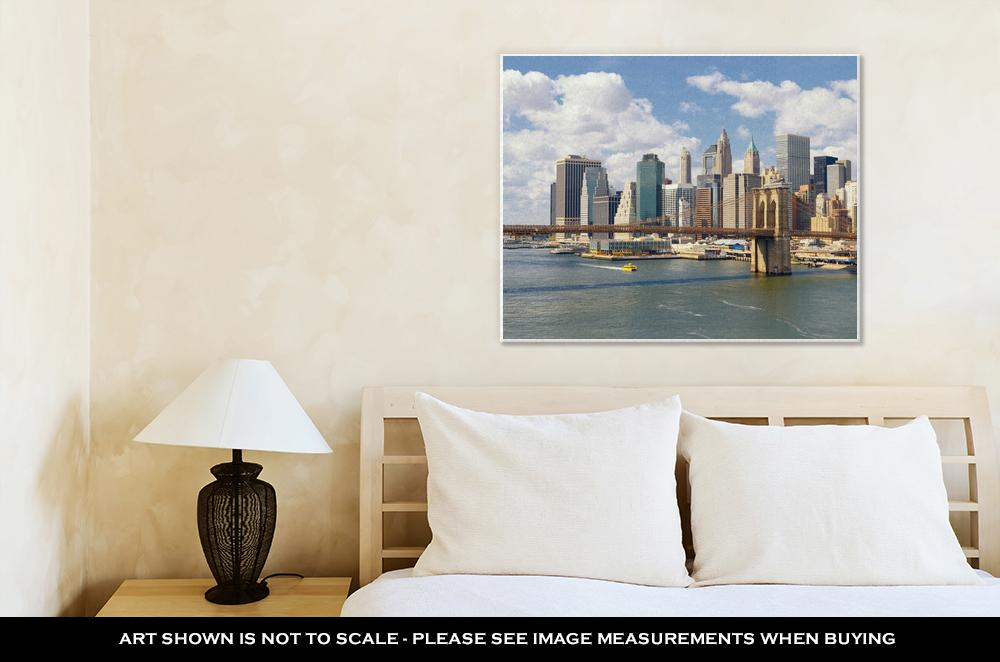 Sunny Day in Manhattan - Canvas Wall Art