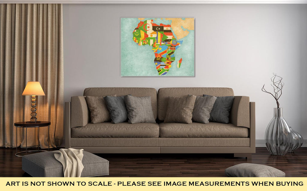 Map Of African Countries - Canvas Wall Art