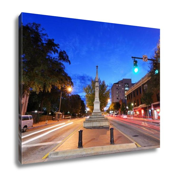 Athens, Georgia Cityscape - Canvas Wall Art