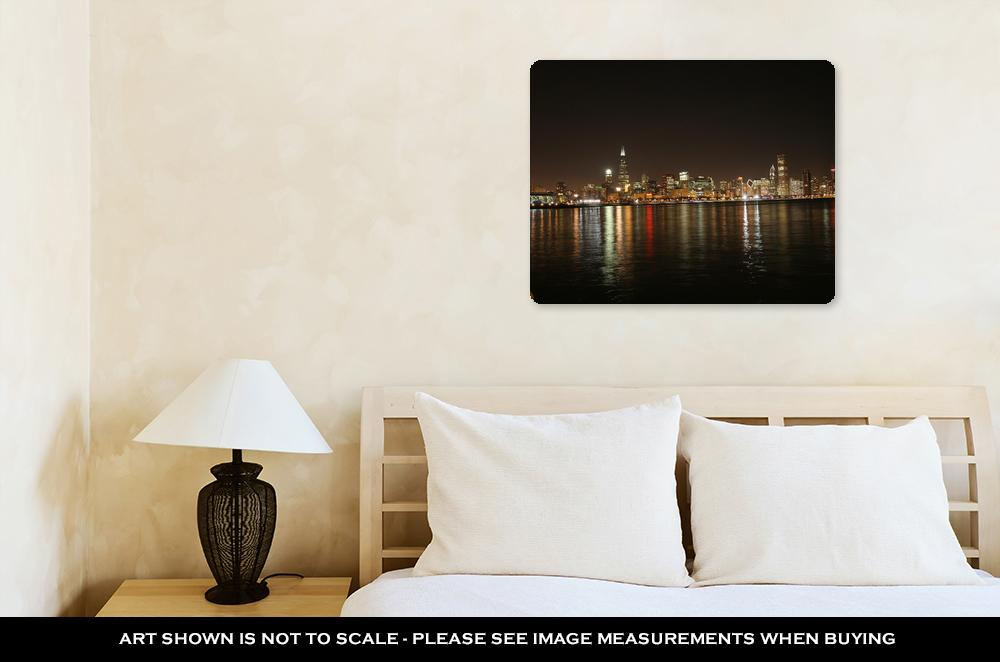 Chicago Night - Metal Panel Wall Art