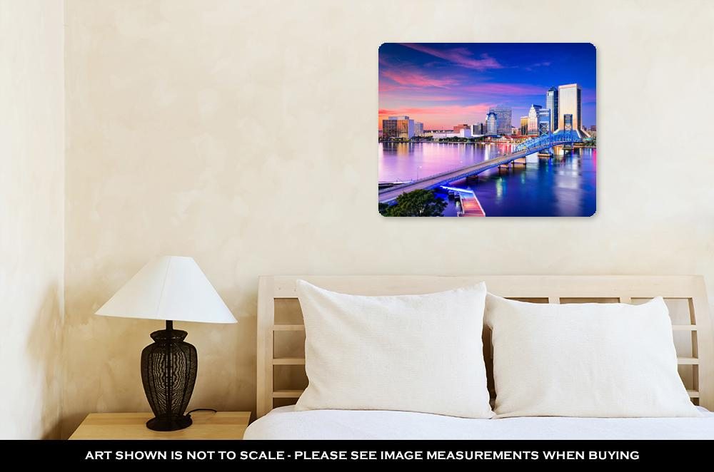 Jacksonville, FL Skyline - Metal Panel Wall Art