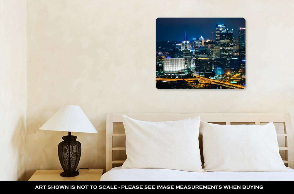 Night in Pittsburgh - Metal Panel Wall Art