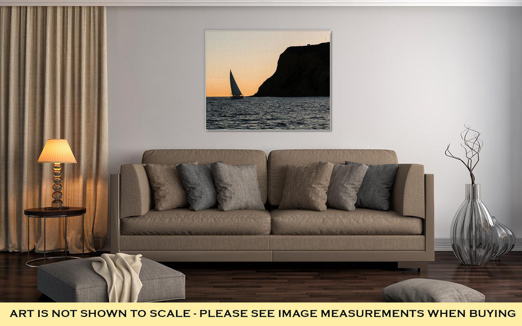 Sailing Near San Diego - Canvas Wall Art
