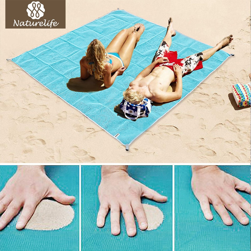 Sand Free Beach Mat Portable