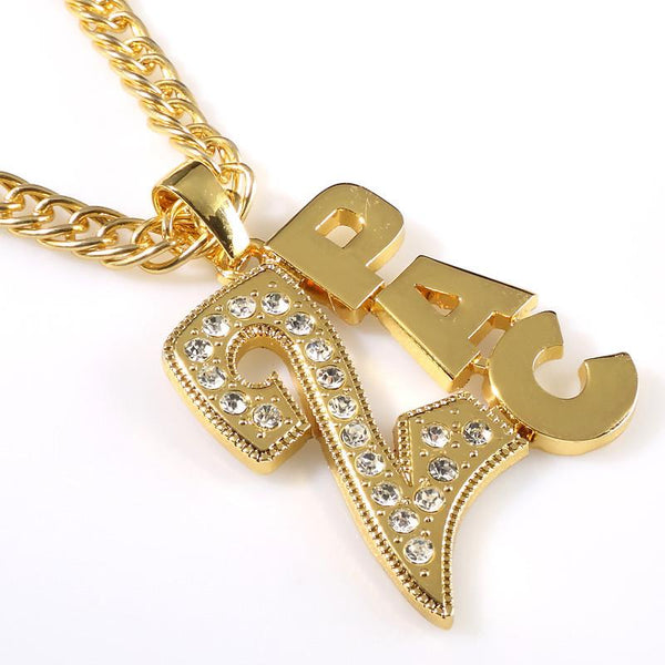 Iced Out 18K Gold/Silver 2Pac Pendant
