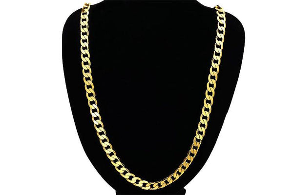 8mm 18K Gold Cuban Chain