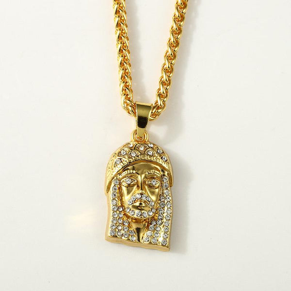 Large Iced Out Christ 18K Gold/Silver Jesus Piece Pendant