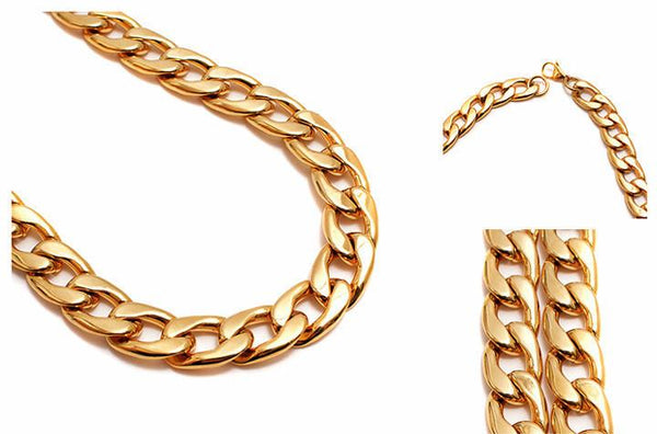 10mm 18K Gold Curb Chain