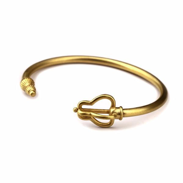 18K Gold/Silver Stainless Steel Staff Bracelet