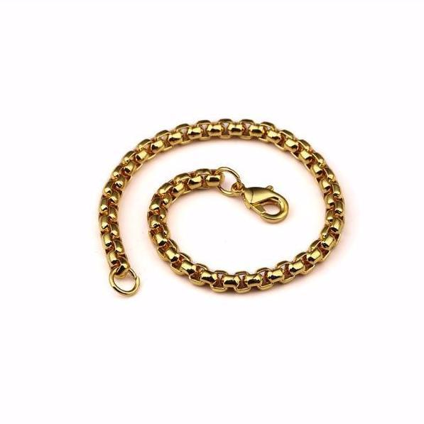 5mm 18K Gold Box Bracelet