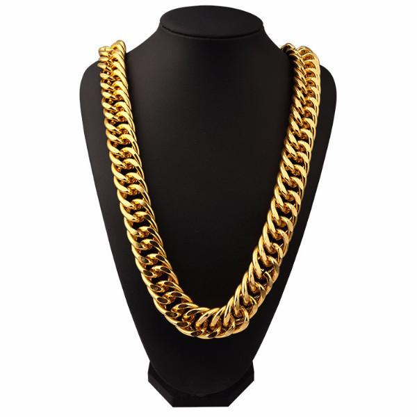 26mm 18K Gold/Silver Miami Cuban Chain