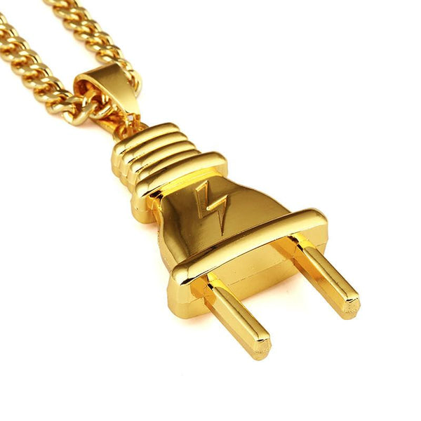 Large Your Plug's Plug 18K Gold Plug Pendant