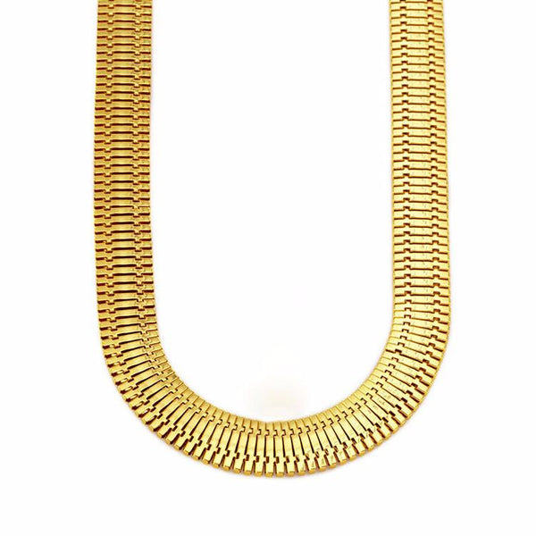 14mm 18K Gold Herringbone Chain