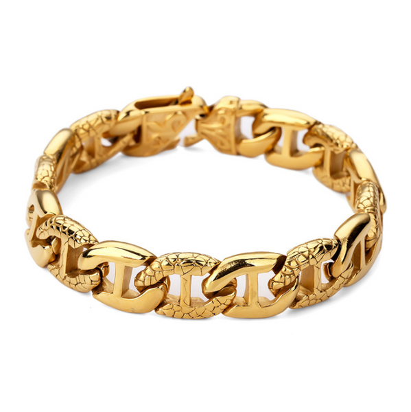 18K Gold/Silver Anchor Bracelet