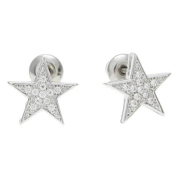 Iced Out CZ Star Gold/Silver Earrings