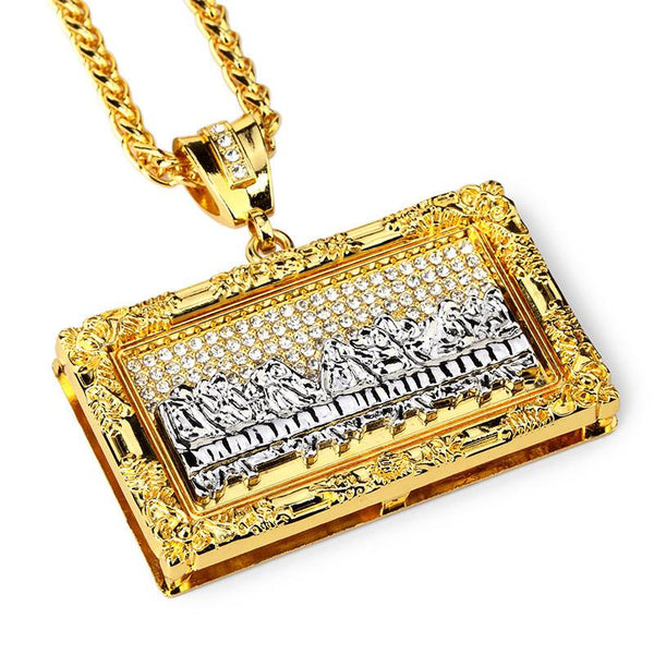 18K Gold/Silver Last Supper Pendant