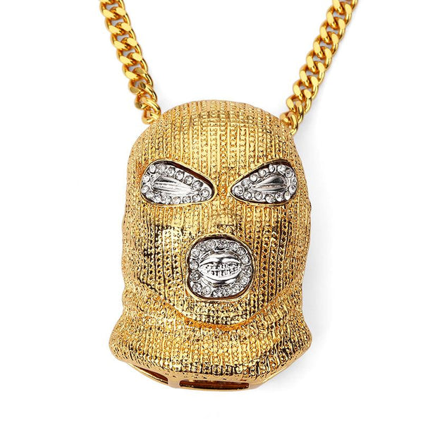 Iced Out 18K Gold Assassin Pendant