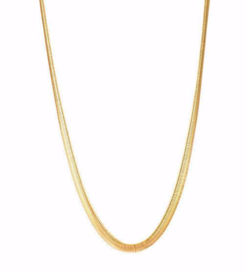 8mm 14K Gold/Silver Snake Chain