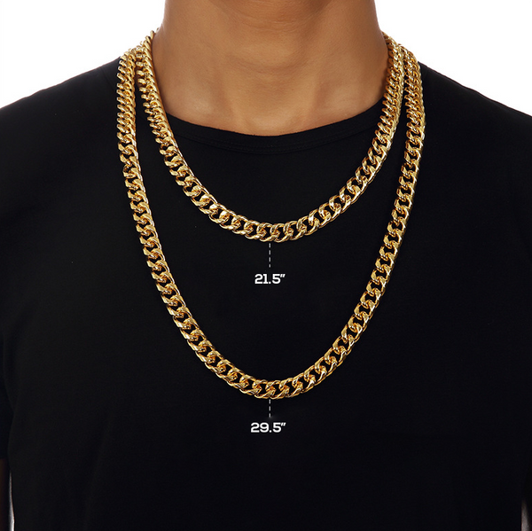 11mm 18K Gold Cuban Chain