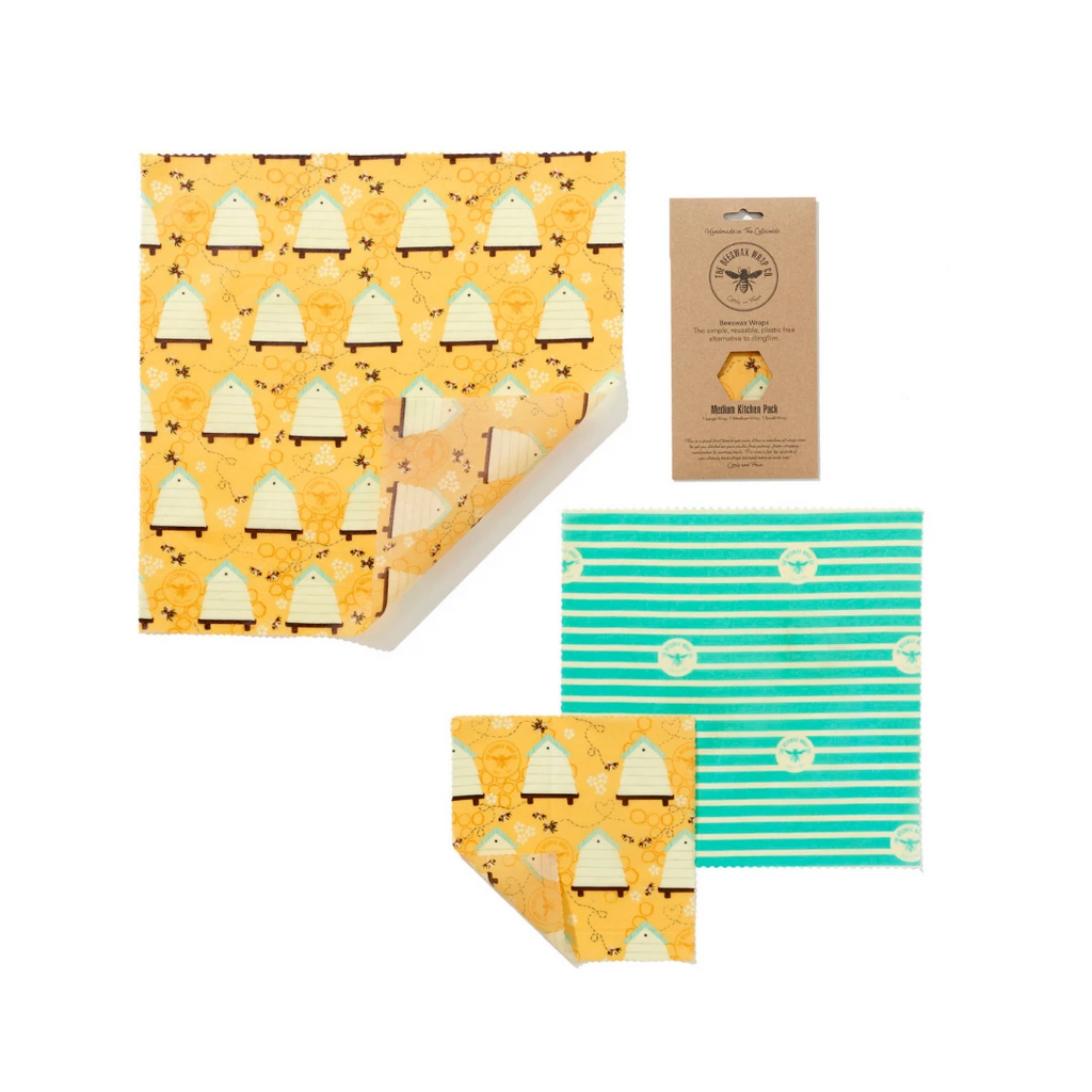 Beeswax Wrap Kitchen Pack Plastic Free